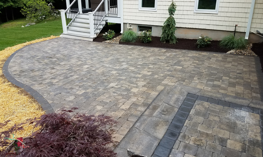 Residential or commercial patio walkway installation