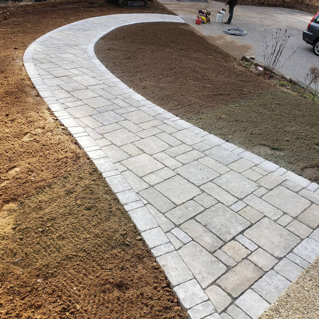 Walkway hardscape design ct